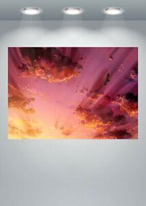 Beautiful Sky Sunset Anime Large Poster Art Print A0 A1 A2 A3 A4 Maxi