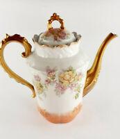 LIMOGES SM Sigismond Maas TOP ANTIK Kaffeekanne edles Porzellan France um 1900