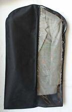 "50 Pieces 24X54"" Non Woven Zipper Garment Bag Black Two Tone Clear Cover Clothes"