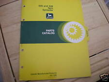 John Deere 605 608 Spin Spreader dealer's parts book