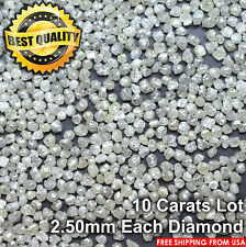 100% NATURAL Loose Rough Diamonds Roundish Very Light Yellow 2.60mm 10carats Lot