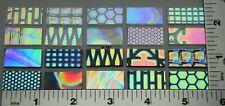 "20 pcs Cbs Pattern Dichroic Glass Sampler Pack 10 Blk & 10 Clear 1/2""x 1"" 90 Coe"