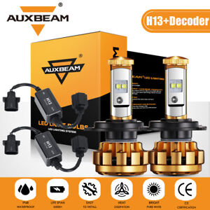 AUXBEAM H13 Canbus LED Headlight Hi-Lo Beam for Dodge Ram 1500 2500 3500 06-2012