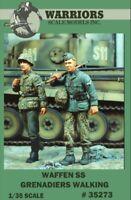Warriors 1:35 Waffen SS Grenadiers Walking 2 Resin Figures Kit #35273