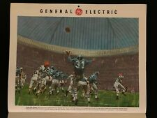 Houston Astrodome Concept Art from GE Promotional Calendar 1960s Oilers Football