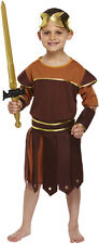 GREEK ROMAN SOLDIER/WARRIOR/GLADIATOR FANCY DRESS OUTFIT/COSTUME AGE 10-12 NEW