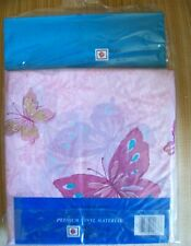 """Butterflies Vinyl Pink Shower Curtain - 72"""" X 72"""" & Rings"""