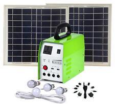 Solar Light Kit System -20W Panel -4x 3W LEDs -  240Volt 150W Inverter -2xUSB