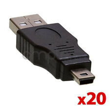 20 pack USB 2.0 A Male to Mini B 5-Pin Male USB Connector Adapter