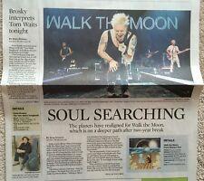"""Walk the Moon """"Press Restart"""" tour newspaper clip Jan 2018 - Steve Brosky"""
