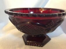Avon Ruby Red Cape Cod Candy Bowl