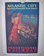 "Vintage Pennsylvania Railroad Atlantic City print 18"" x 25"""