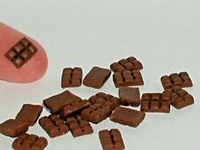 2 Pc. Minature dollhouse Chocolate bars food Candy christmas easter valentines