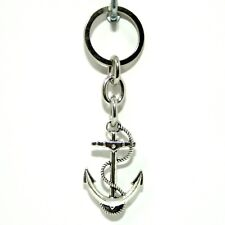 Anchor Keychain Keyring Silver Jewelry Pendant Charm Woman Man Car Key