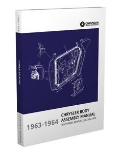 1963 1964 Chrysler Body Assembly Manual 300K 300L 300 New Yorker Newport