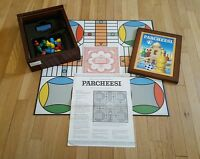 Parcheesi (Board Game, Vintage Collection) wood box classic RARE COMPLETE!