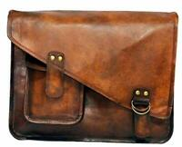 Men Genuine Vintage Leather Messenger Man Business Laptop Briefcase Satchel Bag