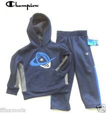 NWT Sz. 4 Years  CHAMPION Boys Performance Hooded Jacket/Hoodie & Pant Set NAVY