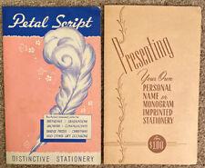 Vintage Petal Script & Harry Doehla Stationary Samples