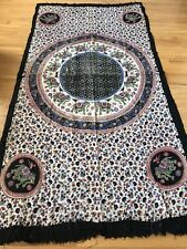 Indian Handmade Bed Sheet Elephant Flower Print Cotton Twin 45x88 Multicolor New