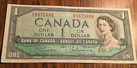1954 CANADA 1 DOLLAR BANKNOTE - S/Z - Beattie / Rasminsky