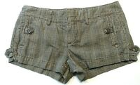 American Eagle Outfitters Womens Shorts Size 0 Plaid Booty Shorty Low Rise Mini