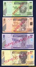 2005-6 CONGO REPUBLIC SPECIMEN SET OF 4 BANKNOTE 1000-20000 FRANCS P-NEW UNC