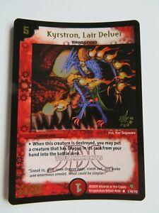 DUEL MASTERS Krystron, Lair Delver L16/Y2 Promo Holo Foil Card RARE Unplayed