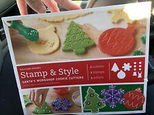 Williams-Sonoma Stamp & Style Santas Workshop Cookie Decorating Kit Cutters Set