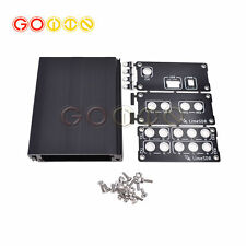Black Aluminum Enclosure Cover case USB common use for LimeSDR Type-A Type-B
