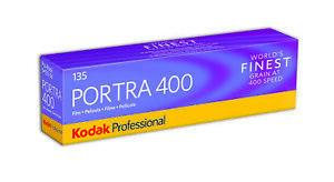 5 rolls Kodak Portra 400 Camera Film. (35mm Roll Film, 36 Exp.)  Free Shipping!