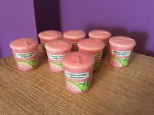 8 x Yankee Candle Simply Home Grapefruit Votive Candles. Retired Scent. Pink.
