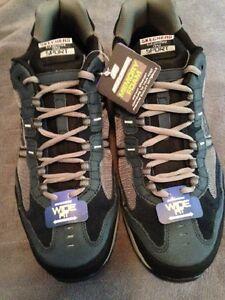 Skechers Men's Trait Blue/Black/Gray Athletic Shoe  (13W)