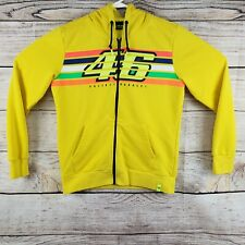 Valentino Rossi VR Racing Gear Hoodie Jacket Yellow The #46 Doctor Men's Large