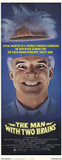 THE MAN WITH TWO BRAINS Movie POSTER 14x36 Insert Steve Martin Kathleen Turner