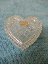 MIKASA TENDER LOVE CRYSTAL/GLASS HEART - TRINKET BOX/DISH 11CM X 11CM BNWT BOX