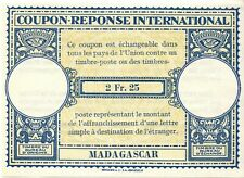 Madagascar  - Coupon réponse international - modèle Londres - 2Fr.25 - MNH