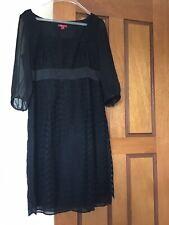 Beautiful Monsoon black lace dress, size 18