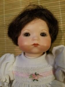 """11""""  Antique vintage AM # 341 German Baby Doll  with  baby gown"""