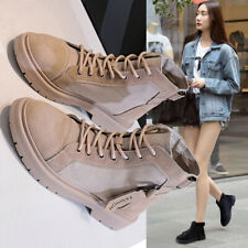 Womens New Fashion Casual Flats Heels Lace Up Round Toes Ankle Boots Shoes Hot