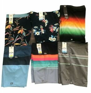 2020 BILLABONG Men's RECYCLER VOLLEY BOARD SHORTS STRETCH SWIM TRUNK SHORT/MID