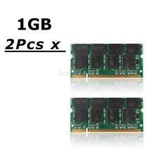 2 Gb 2x1 Gb Ddr-333 MHz Pc2700 200-pin Laptop Portátil sodimm Memoria Memory RAM