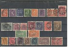 Deutsches Reich, 1922 Michelnrn: ex 177 - 223 o, gestempelt o, Katalogwert € 50