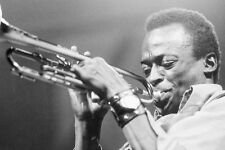 Miles Davis iconic image playing trumpet photo 11x17 Mini Poster