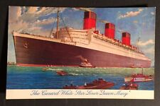 Postcard Rms Queen Mary Cunard White Star Unused 1930s Vintage