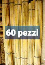 60 Pz PREZZO  RIBASSATO Canne Di Bambù Ø 1CM base Alt.150CM per Orto 0 decorazio
