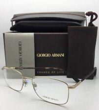 New GIORGIO ARMANI Eyeglasses AR 5023 3002 54-18 145 Matte Gold & Tortoise Frame