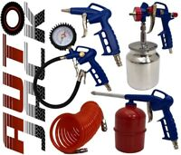 5pc Air Kit Tyre Inflator Spray Gun Degreaser Blower & Hose Line for Compressor