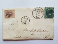 11/15/1879 US Cover with 3 Cent Postage Due from with letter to Ohio