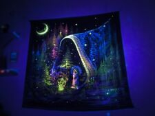 Psychedelic UV Blacklight Tapestry Wall Hanging Spiritual Painting Visionary Art